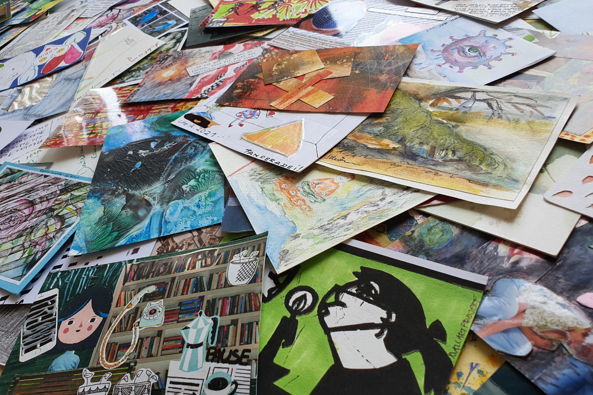Read more about the article Mail Art Ausstellung – Vorbereitung