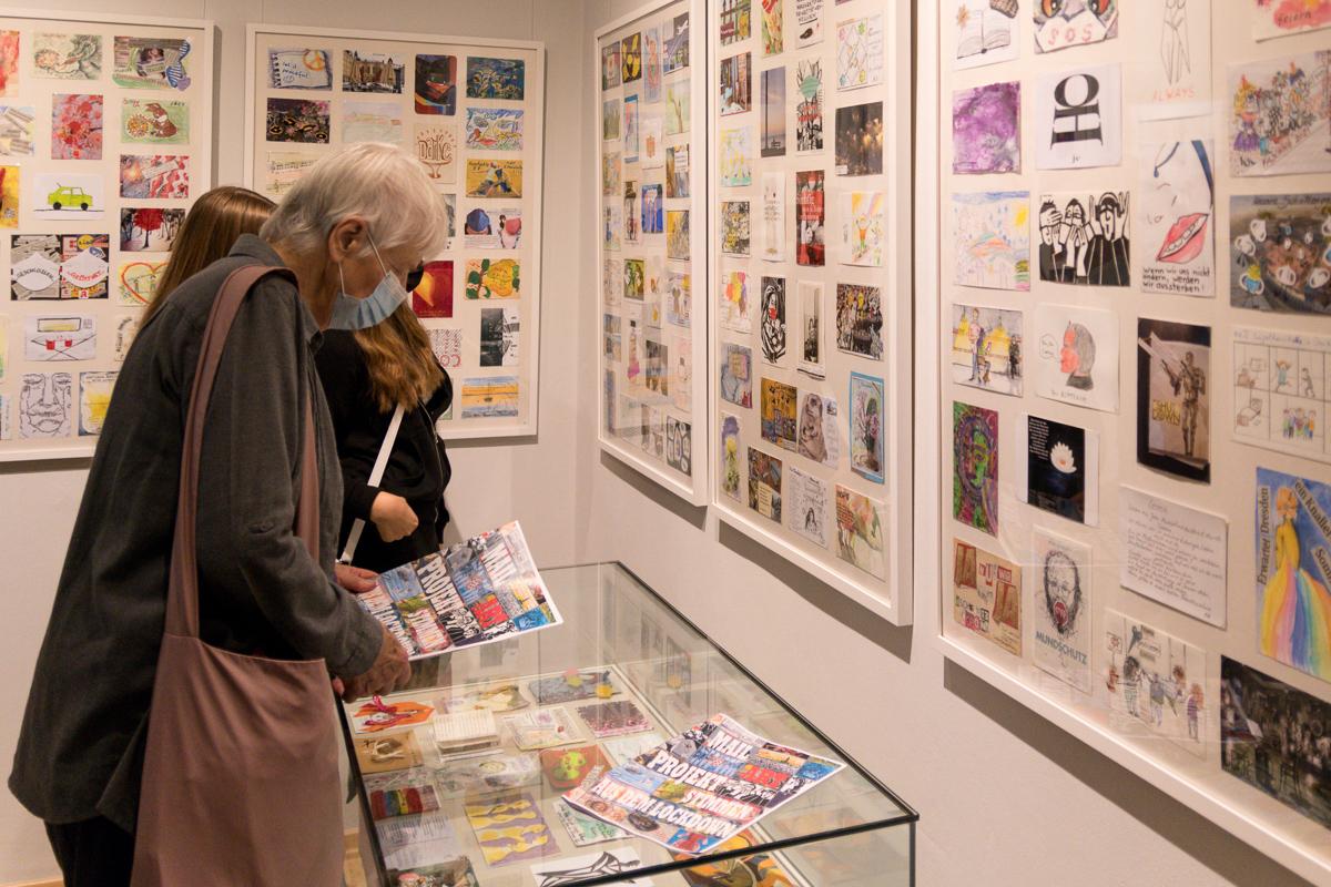 Read more about the article Mail Art Projekt – Ausstellungseröffnung in Radeburg