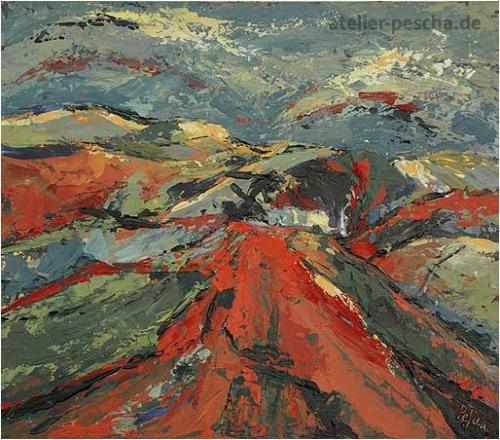 Kleine Landschaft in Rot (2005)